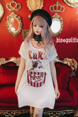 ルルポップコーンBIGワンピースTシャツ